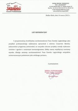 Dawid Legierski - referencje NSZZ Solidarność Podbeskidzie